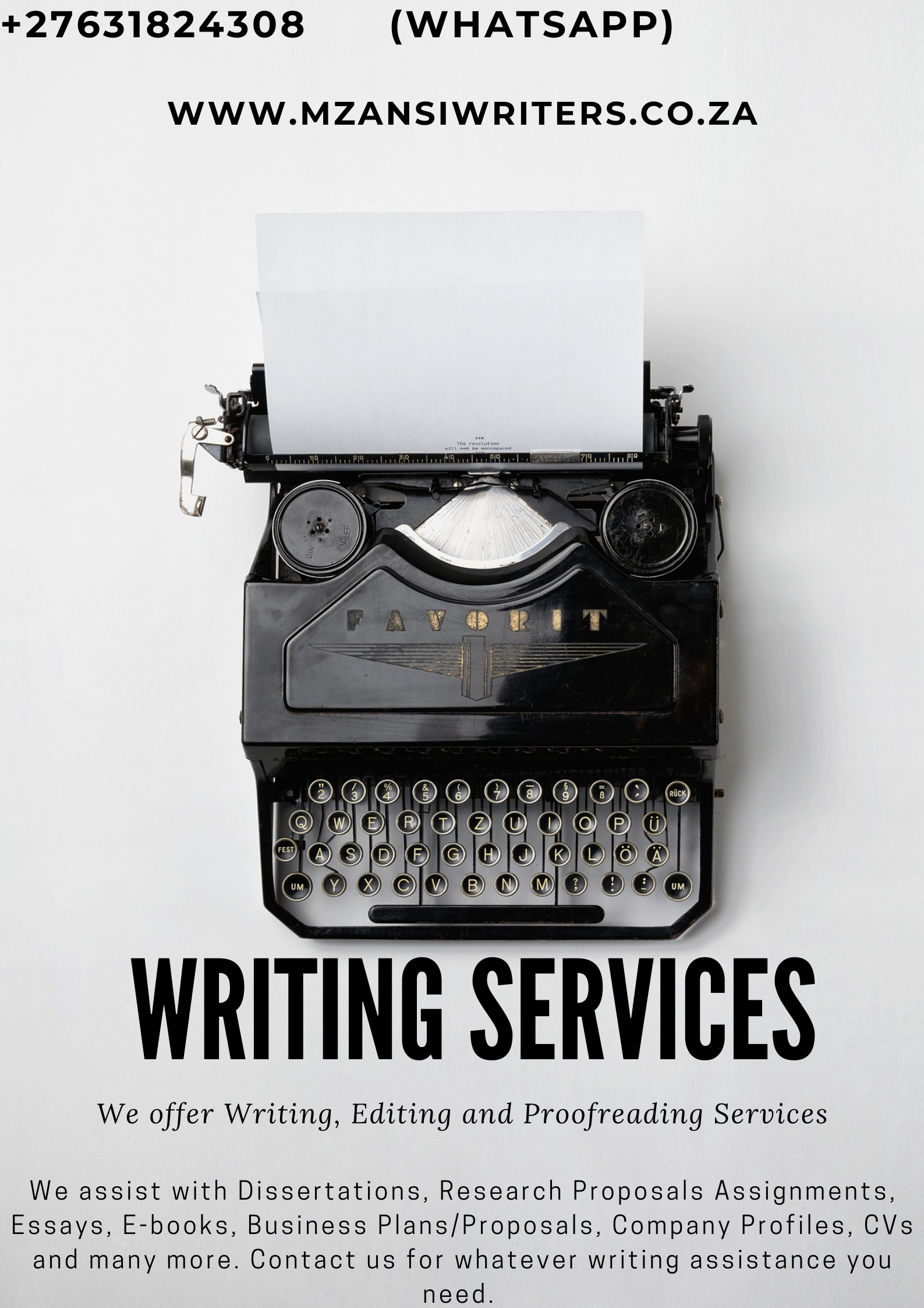 Dissertation Writing Services South Africa